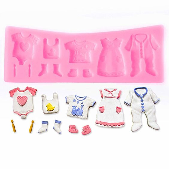 Baby Clothes Fondant Cutters