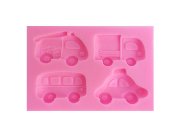 Fire Engine, Truck, Bus & Taxi - Silicone Mold