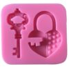 heart-lock-key-silicone-molds