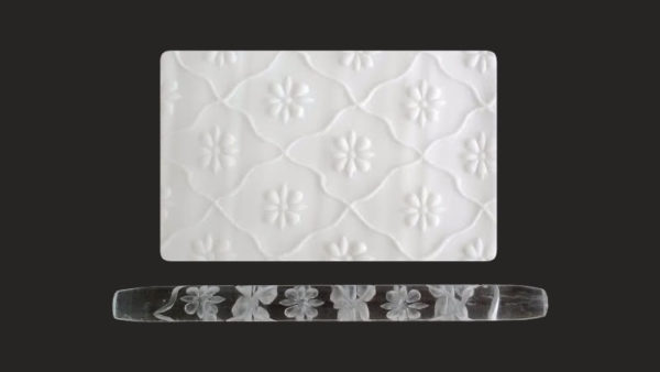 Framing Flowers- Textured Acrylic Rolling Pin