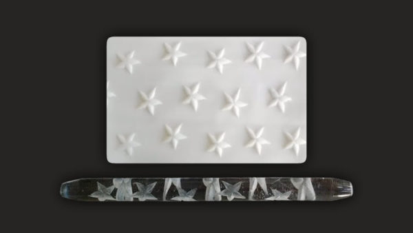 Stars - Textured Acrylic Rolling Pin
