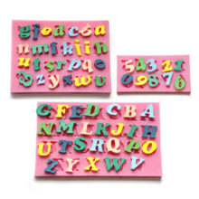 Letters and numbers silicone mold