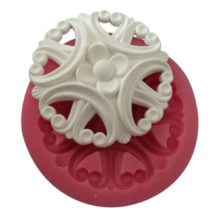 Vintage Flower Brooch Silicone Mold