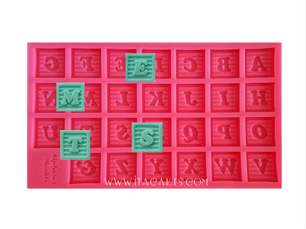 Alphabet Baby Block - Silicone Mold