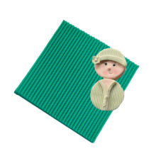 Cable Knit Pattern Embosser Silicone Mat