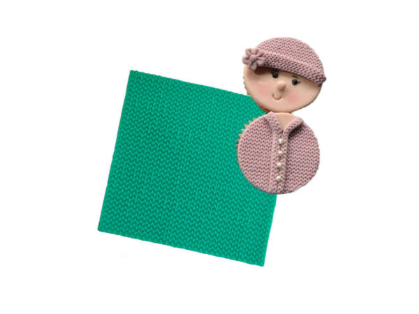 Sweater Knit Pattern Embosser Silicone Mat