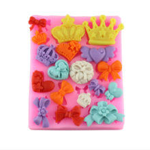 Crowns Hearts & Bows Silicone Mold