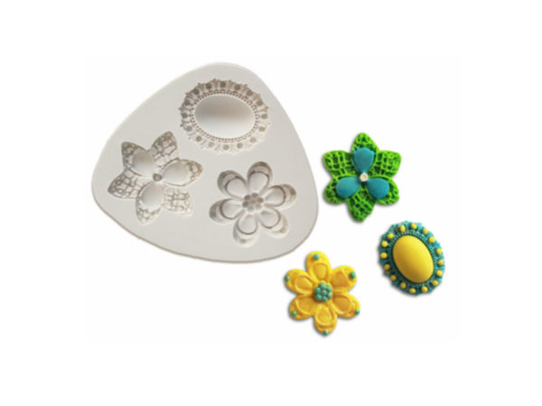 Brooch & Flowers - Silicone Mold