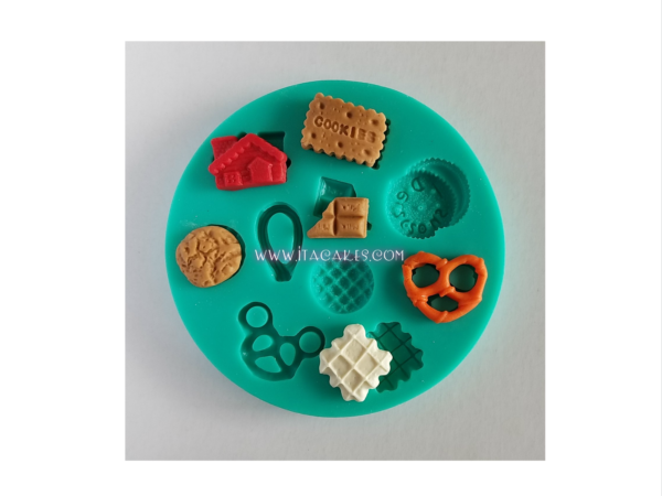 Cookies, Biscuits, Pretzels, Crackers, Chocolate - Silicone Mold