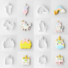 16 Piece Unicorn Cookie Cutters